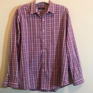 EUC!  Tasso Elba Button Down Dress Shirt -…